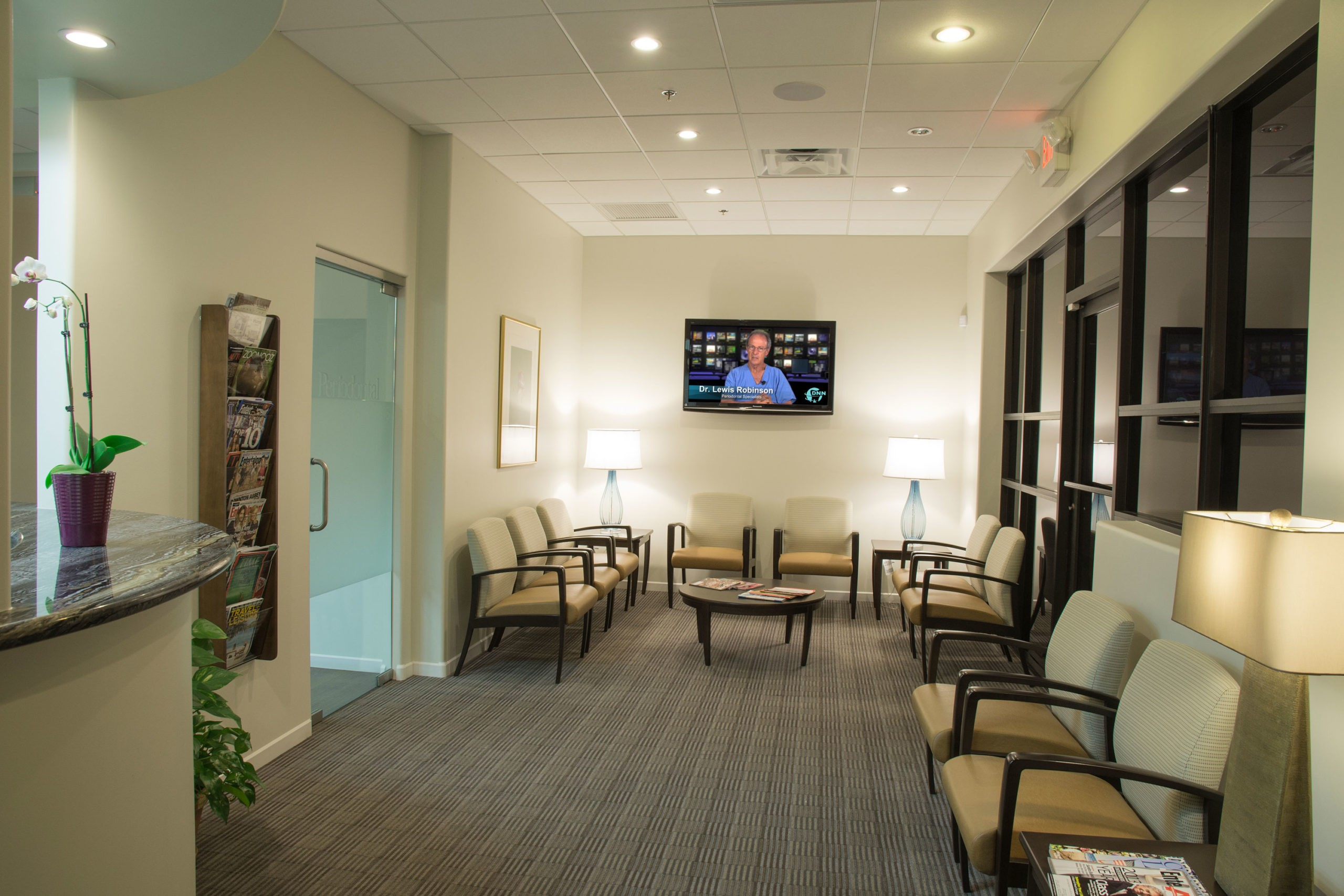 Advanced Dental Implants & Periodontology Scottsdale Arizona Waiting Area